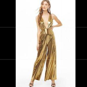 Gorgeous metallic gold jumpsuit